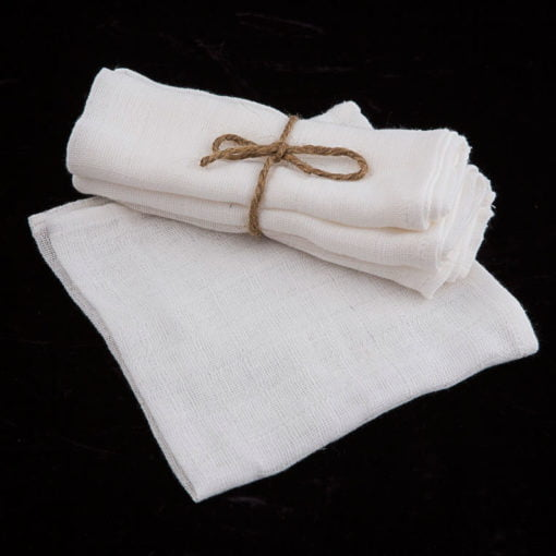 Three Muslin Face Cloths
